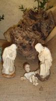 Sainte Famille en plâtre (ancienne)
